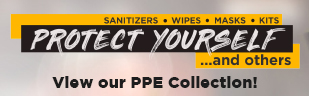 PPE Products.  Sanitizers, Wipes, Masks, Kits.